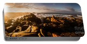 Morning Ocean Panorama Portable Battery Charger