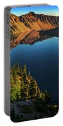 Morning Reflection On Crater Lake Portable Battery Charger by John Hight