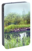 Morning River In Old Dutch Village Portable Battery Charger