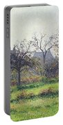 Morning Sun Portable Battery Charger by Camille Pissarro