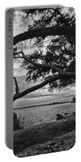 Morning Sunrise In Bw Portable Battery Charger