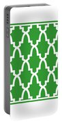 Moroccan Arch With Border In Dublin Green Portable Battery Charger