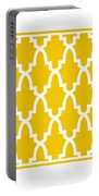 Moroccan Arch With Border In Mustard Portable Battery Charger