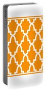 Moroccan Arch With Border In Tangerine Portable Battery Charger