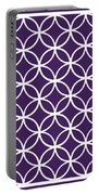Moroccan Endless Circles I With Border In Purple Portable Battery Charger