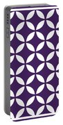 Moroccan Endless Circles II With Border In Purple Portable Battery Charger