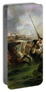 Moroccan Horsemen In Military Action Portable Battery Charger by Ferdinand Victor Eugene Delacroix