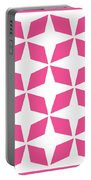 Moroccan Inlay With Border In French Pink Portable Battery Charger