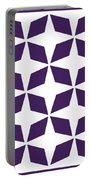 Moroccan Inlay With Border In Purple Portable Battery Charger