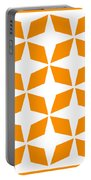 Moroccan Inlay With Border In Tangerine Portable Battery Charger