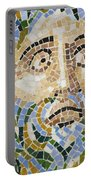 Mosaic Face Fountain Detail Portable Battery Charger