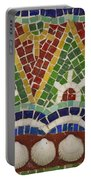 Mosaic Fountain Pattern Detail 4 Portable Battery Charger