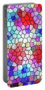 Mosaic Garden Blooms Portable Battery Charger
