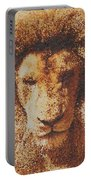 Mosaic Lion Portable Battery Charger