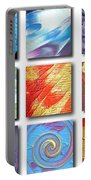 Mosaic Of Abstracts Portable Battery Charger