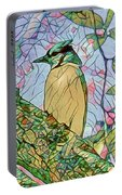 Mosaic Of Blue Jay Portable Battery Charger