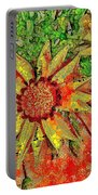 Mosaic Sunny Yellow Daisy Portable Battery Charger