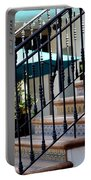 Mosaic Tile Staircase In La Quinta California Art District Portable Battery Charger