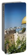 Mosques In Old Town Of Jerusalem Israel Portable Battery Charger