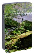 Moss Covered Boulders Portable Battery Charger