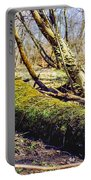 Moss Covered Log Portable Battery Charger