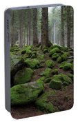 Moss Covered Rocks Portable Battery Charger