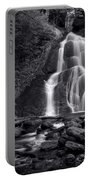 Moss Glen Falls - Monochrome Portable Battery Charger