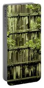 Mossy Bamboo Fence - Digital Art Portable Battery Charger