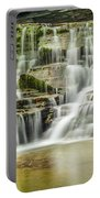 Mossy Flowing Waterfalls In Enfield Glen Portable Battery Charger