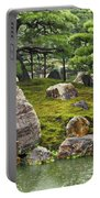 Mossy Japanese Garden Portable Battery Charger by Carol Groenen