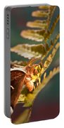 Moth At Sunrise Portable Battery Charger