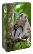Mother And Baby Monkey Portable Battery Charger
