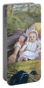 Mother And Child With A Poppy Portable Battery Charger