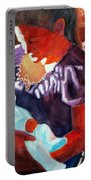 Mother And Newborn Child Portable Battery Charger by Kathy Braud