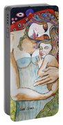 Motherhood - Tribute To Klimt Portable Battery Charger