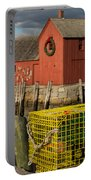Motif 1 At Christmas, Rockport, Ma Portable Battery Charger