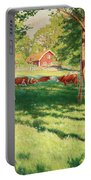 Motif From Skedevid In Tjarstad Portable Battery Charger