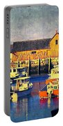 Motif No. 1 - Sunset Digital Art Oil Print Portable Battery Charger