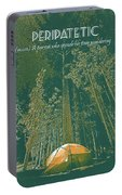 Motivational Travel Poster - Peripatetic 3 Portable Battery Charger