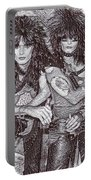 Motley Crue Drawing Portable Battery Charger