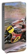 Motorcycle Racing Portable Battery Charger by Graham Coton
