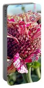 Mottled Pink Cone Flower Portable Battery Charger