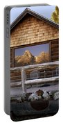 Moulton Ranch Cabin Reflection Grand Tetons Portable Battery Charger