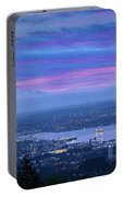 Mount Baker And Vancouver Bc At Dawn Portable Battery Charger
