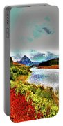 Mount Errigal, Donegal, Ireland, Poster Effect 1a Portable Battery Charger