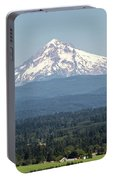 Mount Hood In The Summer Portable Battery Charger