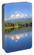 Mount Hood On A Sunny Day Portable Battery Charger