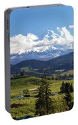 Mount Hood Over Fruit Orchards In Hood River Portable Battery Charger