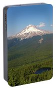 Mount Hood Over Mirror Lake Portable Battery Charger