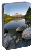 Mount Hood Reflection At Trillium Lake Portable Battery Charger